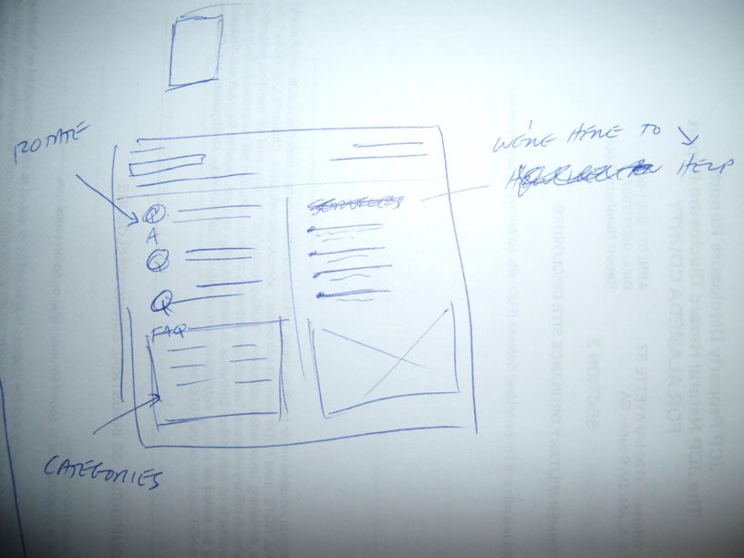 Website Wireframe Sketch