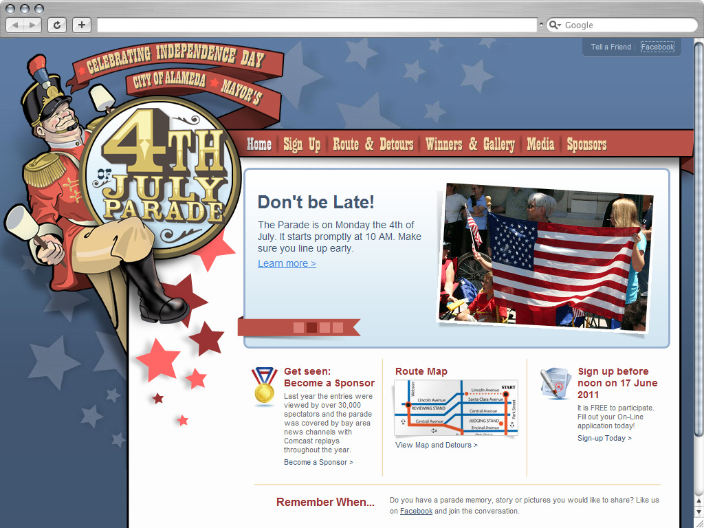 Alameda 4th Of July Parade Website Launch
