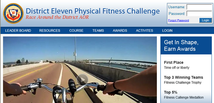 MJS Web Solutions Launches USCG Fitness Challenge Website