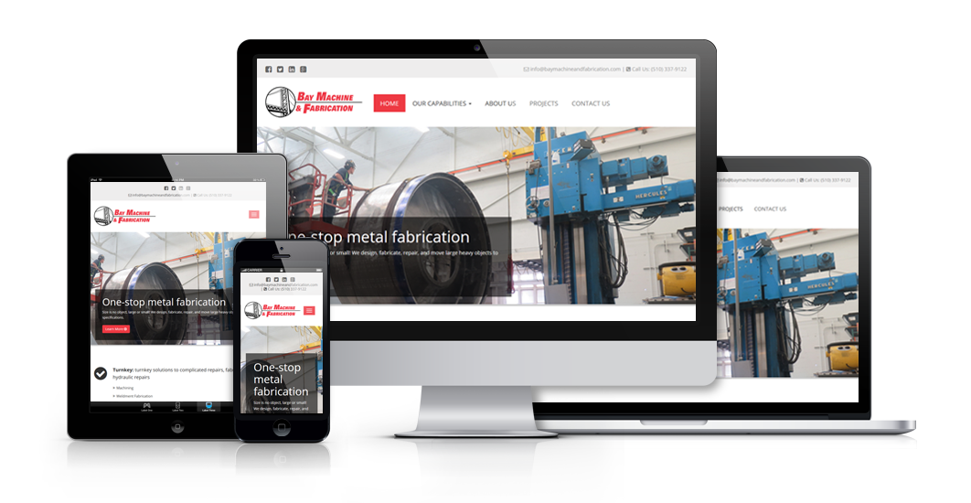 MJS Web Solutions Launches New Website For Bay Machine And Fabrication