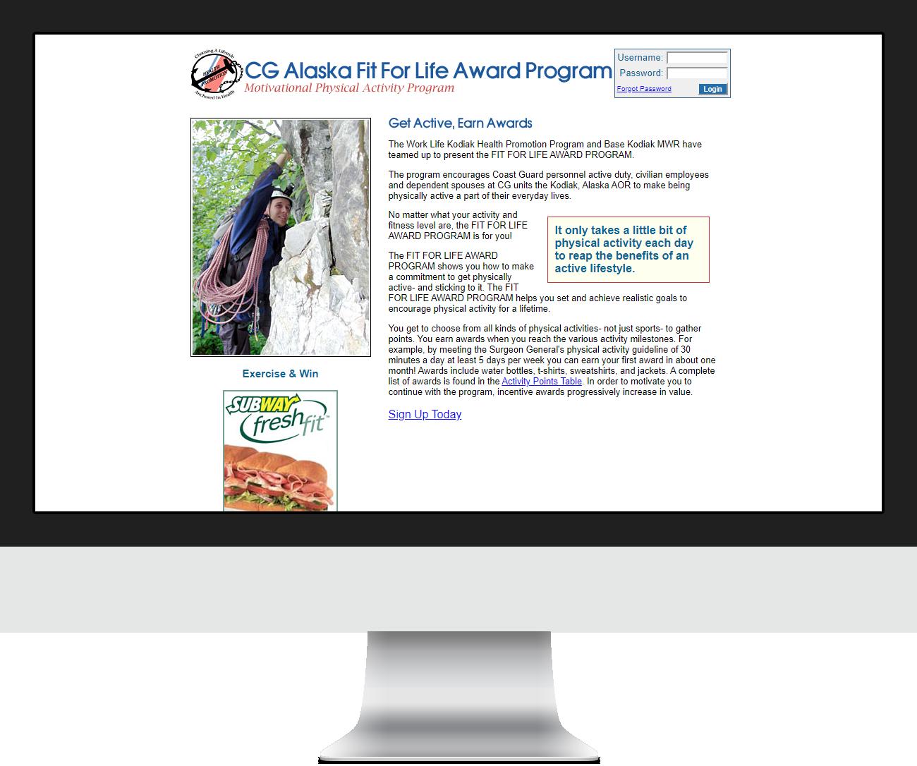 CG Alaska Fit For Life Program - Before