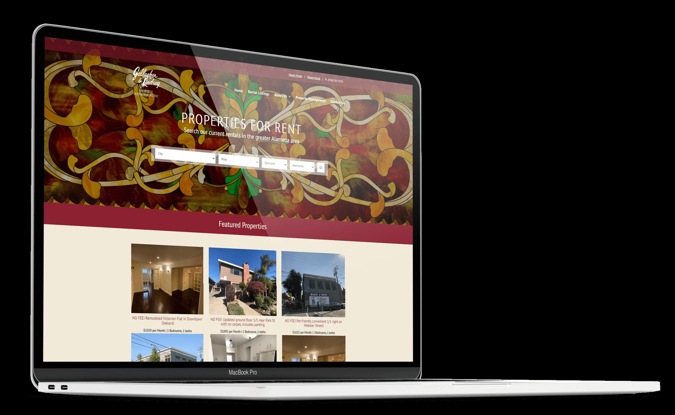 Alameda Rentals Website Design