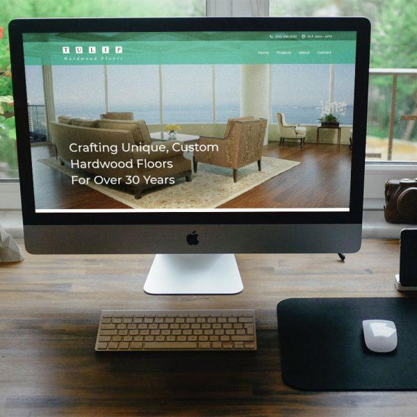 Tulip Hardwood Floors Website Mockup Featured Image