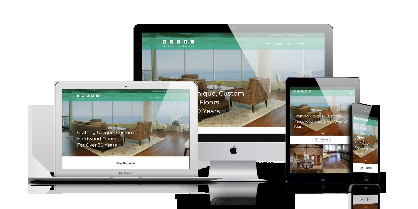 Tulip Hardwood Floors Website Design