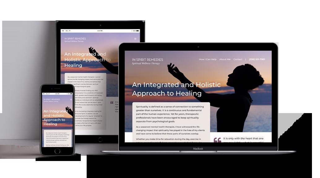 In Spirit Remedies Website Design